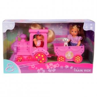 Куклы Эви в паровозике