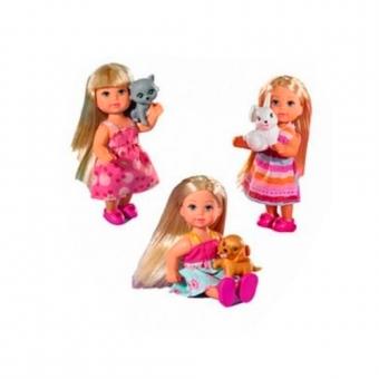 Кукла Эви с маленьким питомцем