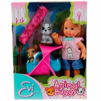 Кукла Эви и ее любимцы с колыбелью