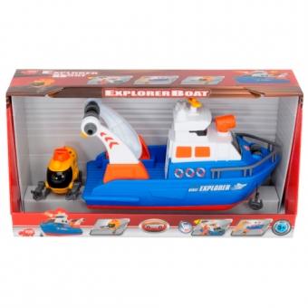 Исследовательская лодка с субмариной