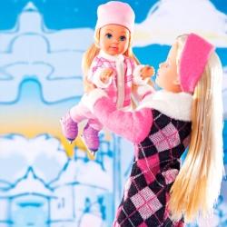 Штеффи и Эви на коньках Simba