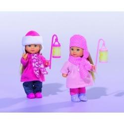 Кукла Эви Зимняя сказка с фонарем