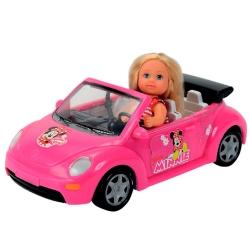 Эви Минни Маус в кабриолете с багажом