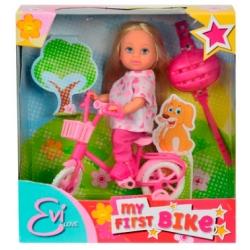 Кукла Эви и ее первый велосипед