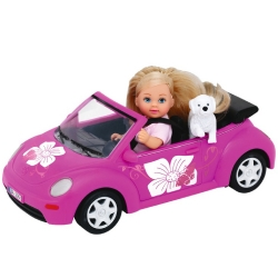 Кукла Эви на машине