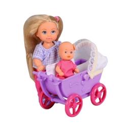 Кукла Эви с малышом в коляске